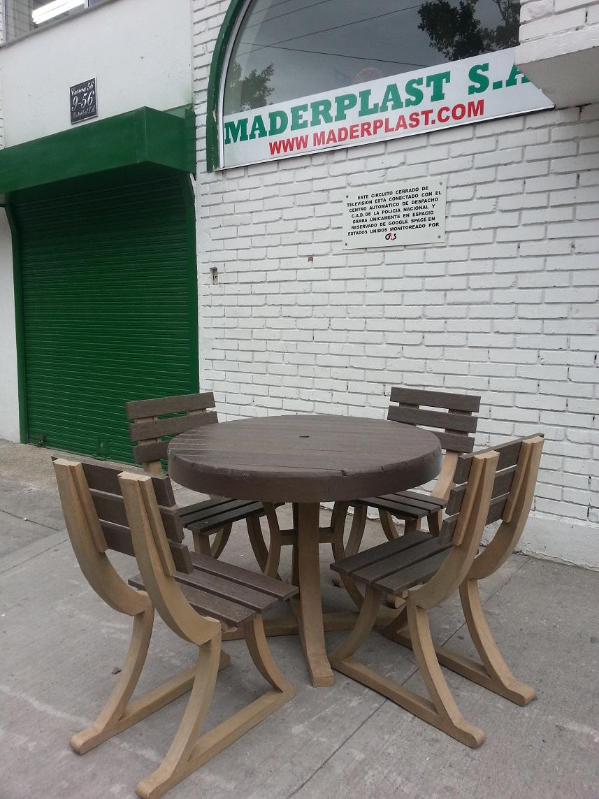 30 muebles campestres exteriores interiores mobiliarios for Mesas y sillas de plastico para jardin